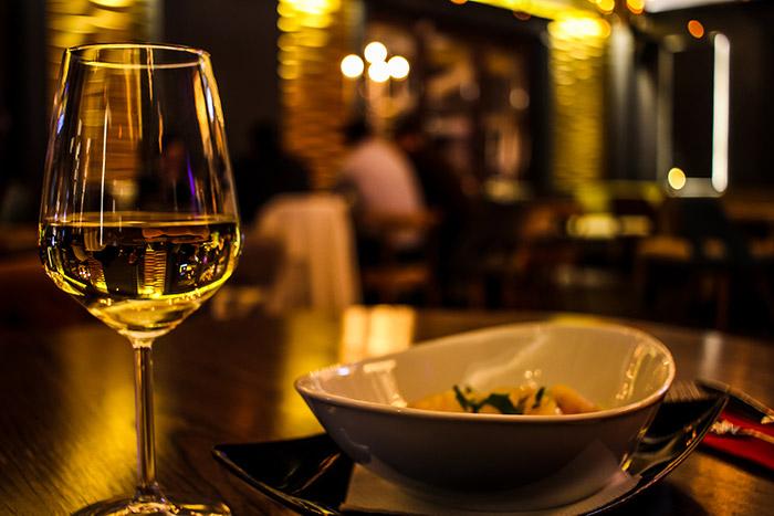 Wein im Restaurant