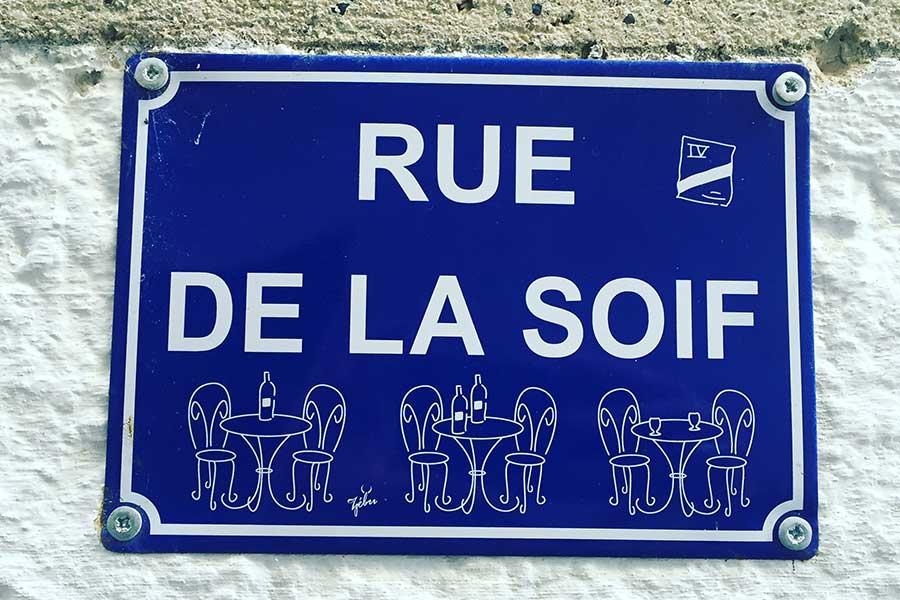 Rue de la Soif - Straßenschild