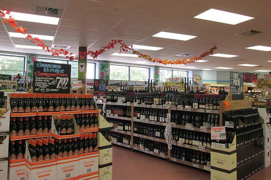 Wein im Supermarkt