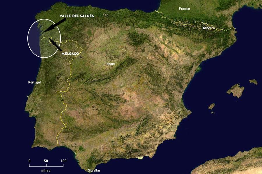Karte der iberischen Halbinsel |Quelle: Wikipedia