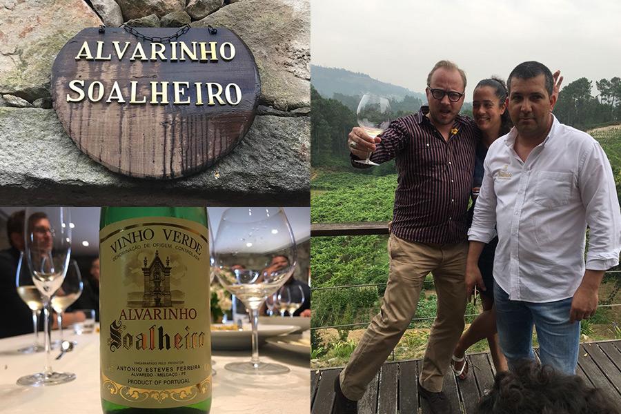 Zu Besuch bei Soalheiro in der Region Melgaço | Luis Cedeira, Bianca und Hendrik posen mit Aussicht