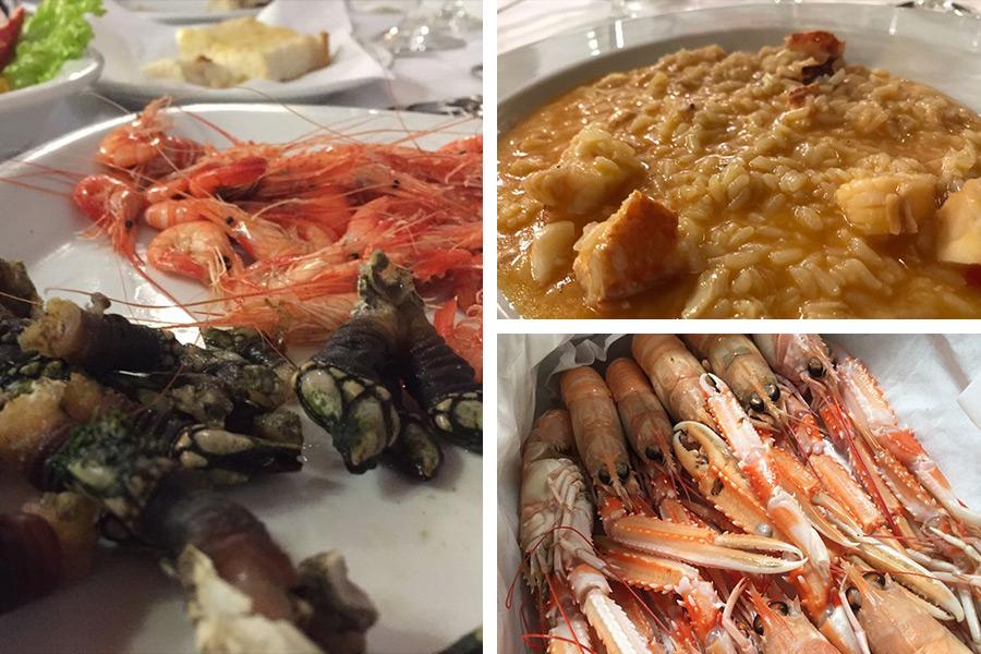 Meeresgrüchte sind die Spezialität der Region und passen hervorragend zu Alvarinho/Albariño | Percebes (Entenmuscheln) & Langostinos | Hummerreis | Langostinos
