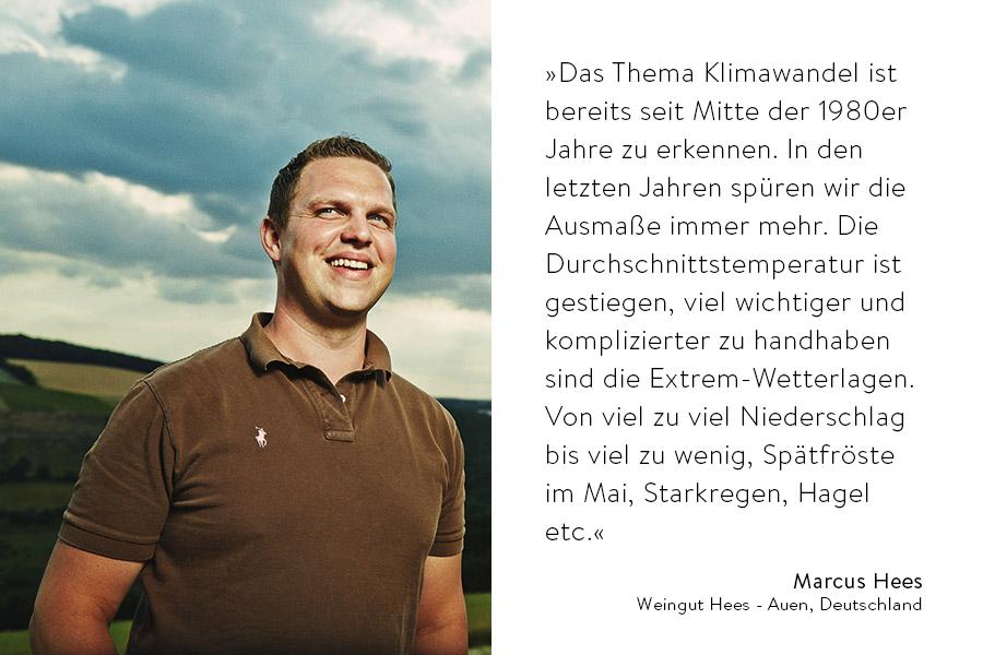Zitat von Marcus Hees und Portrait
