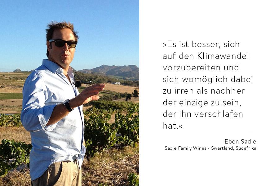 Zitat von Eben Sadie mit Portrait