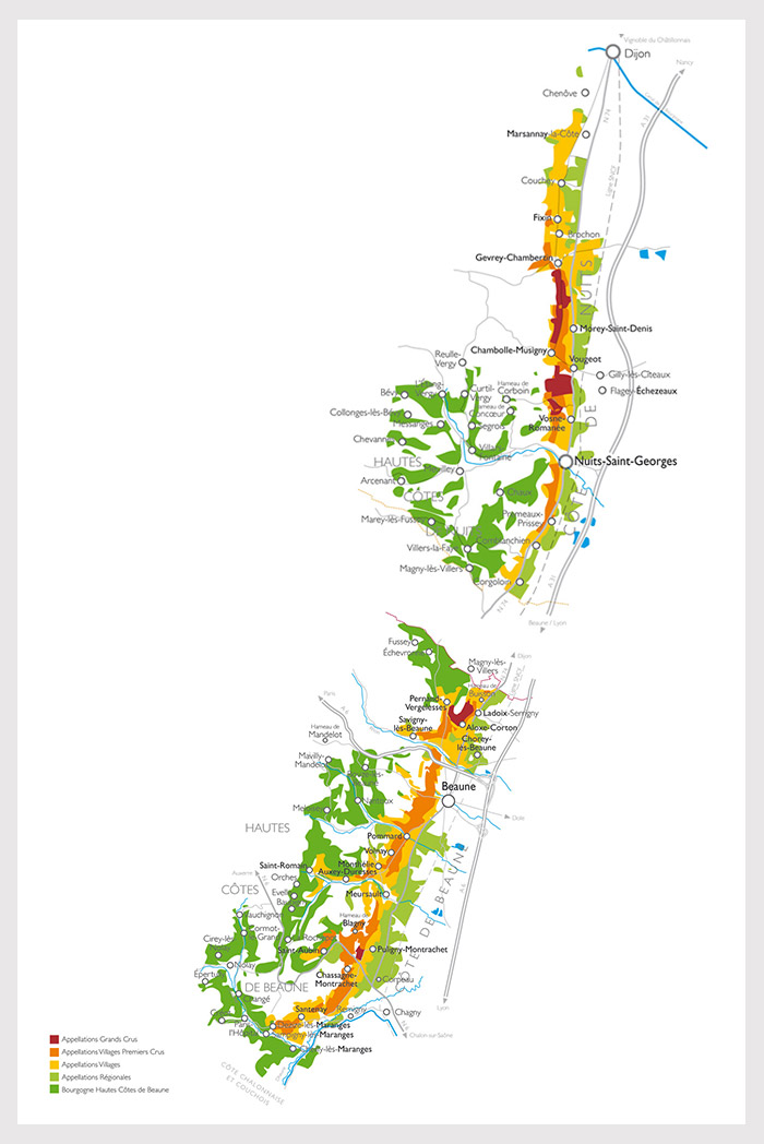 Karte Burgund