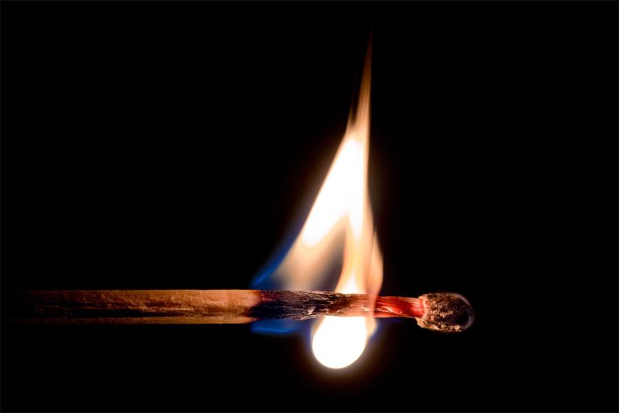 Brennendes Streichholz Reduktionsaromen