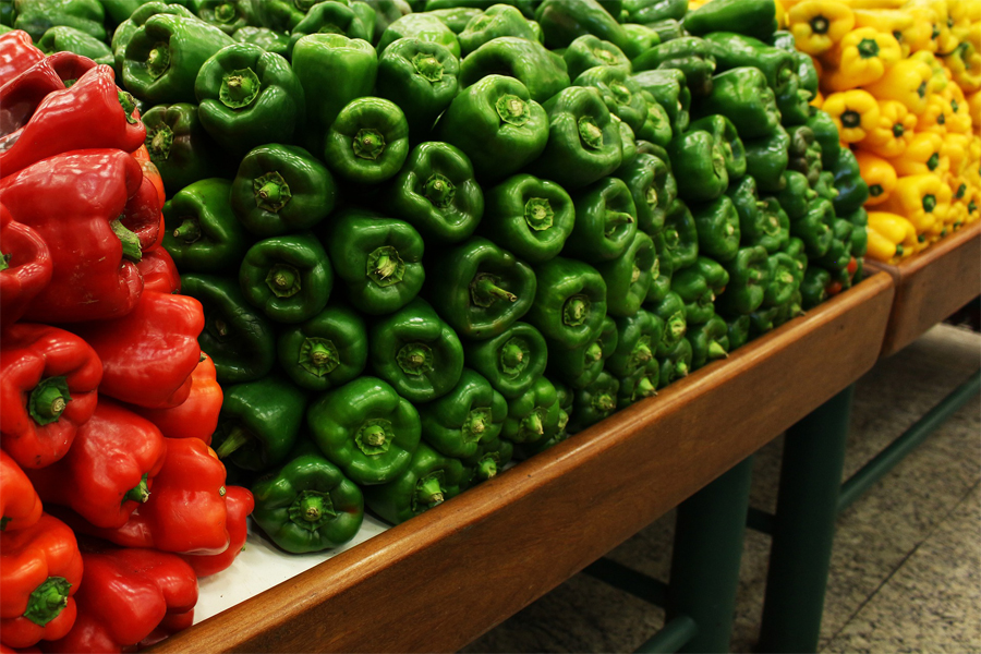 Grüne Paprika als Synonym von Methoxypyrazine