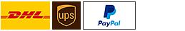 Unsere Partner: DHL, UPS, Visa & Paypal